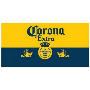 Corona Extra Beach Towel - Blue & Gold