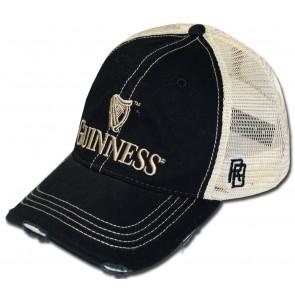 Guinness Black Ripped Mesh Hat