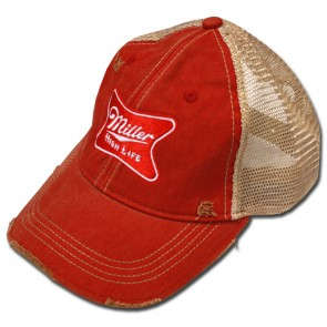5895860573a Ripped Retro Miller High Life Patch Hat.  27.95. Front