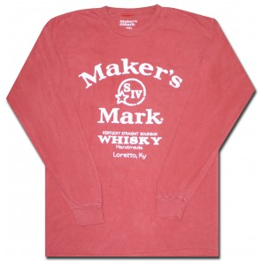 Maker's Mark Whisky Long Sleeve T-Shirt : Coral