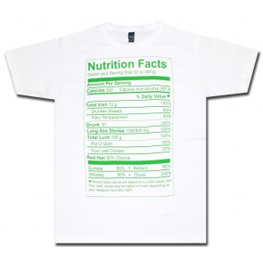 Irish T-Shirt : Nutrition Label Shirt