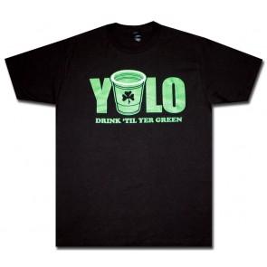 Irish T-Shirt : YOLO Drink Til' Green Shirt