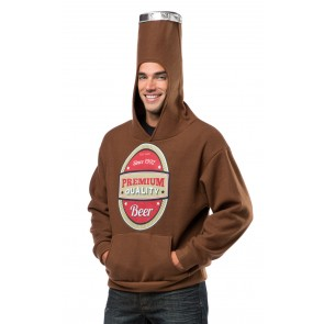 Beer Bottle Pullover Sweatshirt Costume