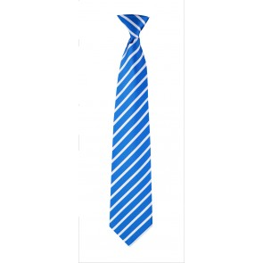 Flask Tie Blue & White Stripes