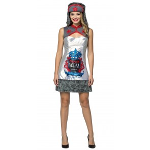 Russian Vodka Dress Women's Costume