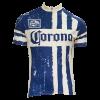 Blue Striped Corona Cycling Jersey
