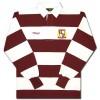 Guinness Rugby Burgandy Stripes Long Sleeve Shirt